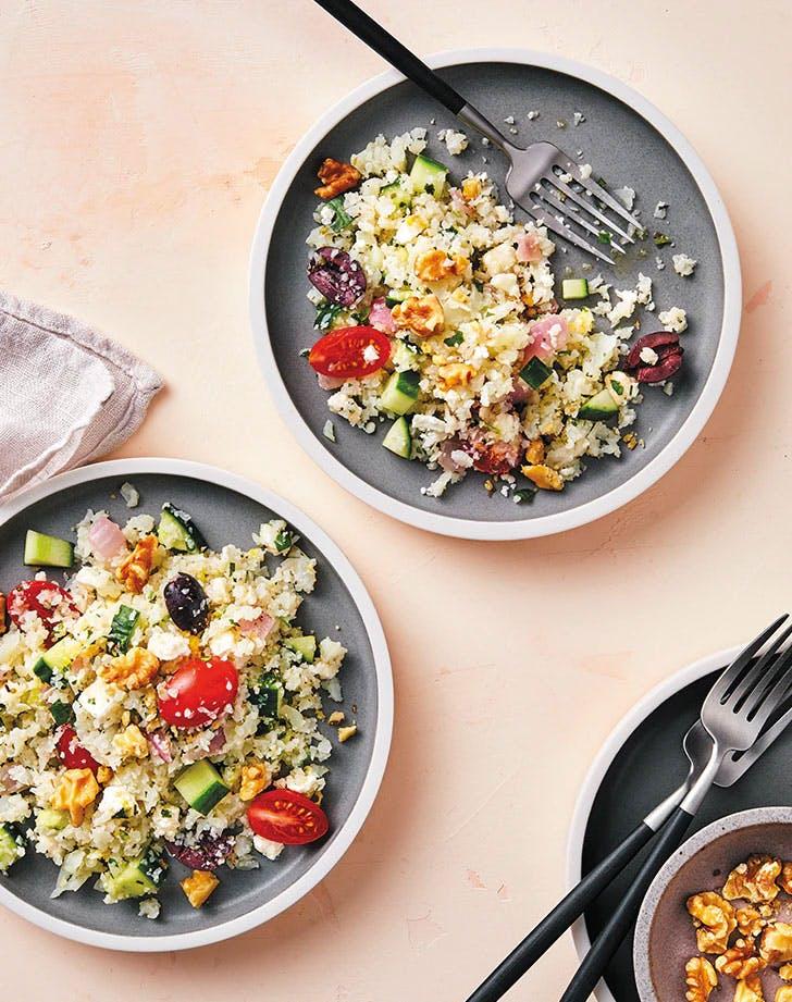 keto vegetarian recipes instant pot greek cauliflower rice