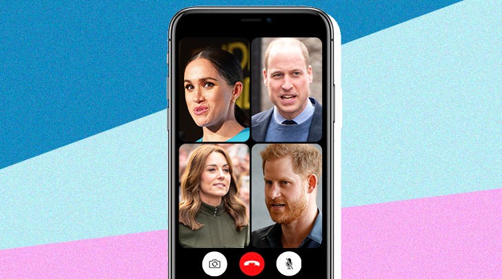 Meghan, Harry, Will & Kate's (Imagined) FaceTime Chat