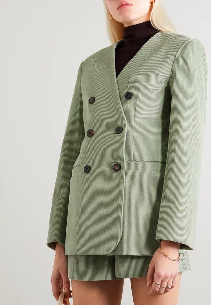 spring editor picks green blazer