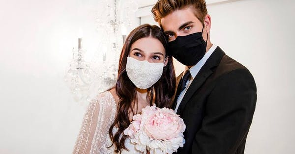There Are Now Haute Couture Wedding Masks (Don't Worry, the Proceeds Directly Support Healthcare Workers)
