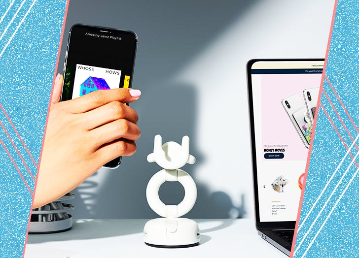 This Phone Mount Has Been a Gamechanger for WFH (& Working Out From Home)
