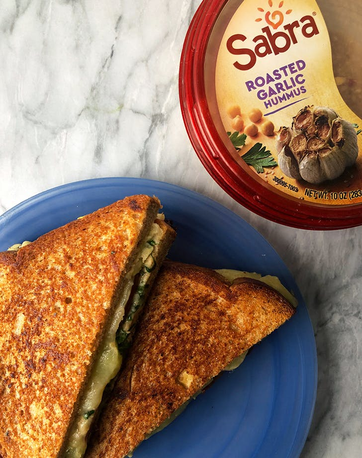 Hummus Grilled Cheese