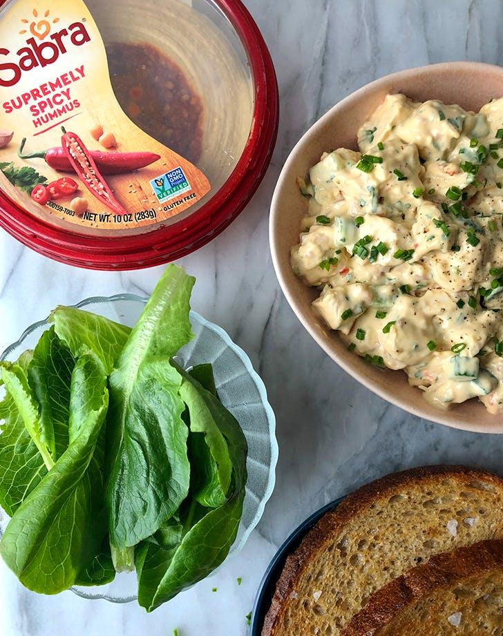Spicy Hummus Chicken Salad
