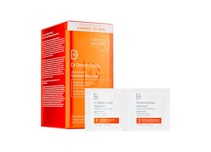 at home chemical peel Dr. Dennis Gross Skincare Alpha Beta Universal Daily Peel