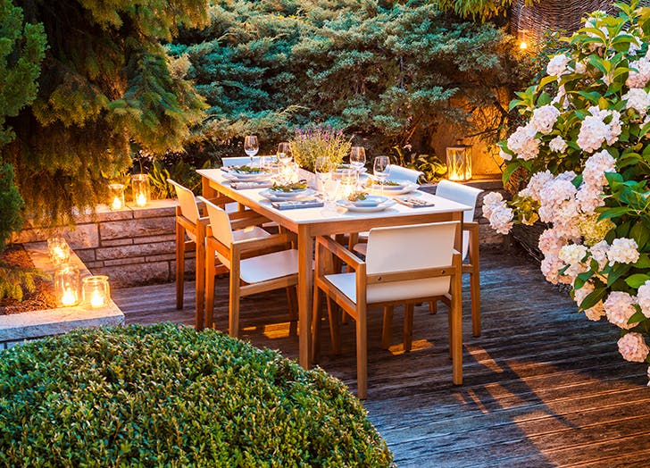 backyard dinner table