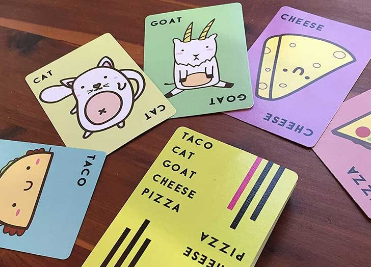 card games for kids taco goat cheese pizza