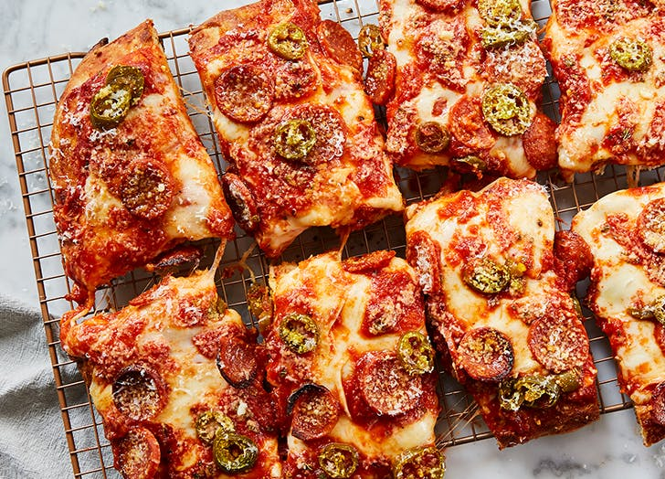 cheaters sicilian style pizza with jalapenos and honey recipe 400