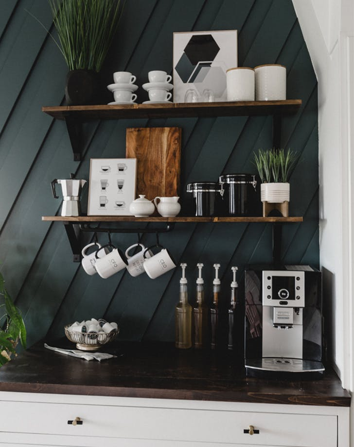 coffee station ideas color