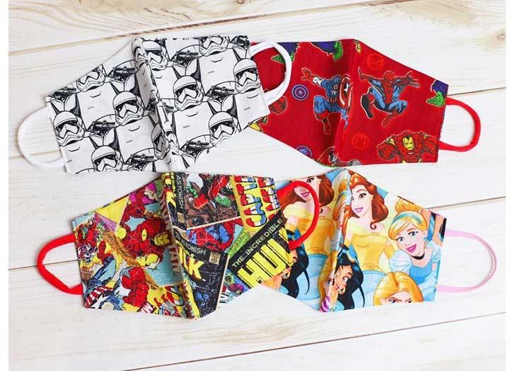face masks for kids disney print