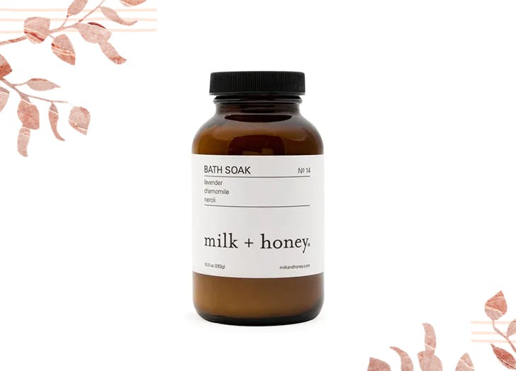 milk and honey bath salt soak