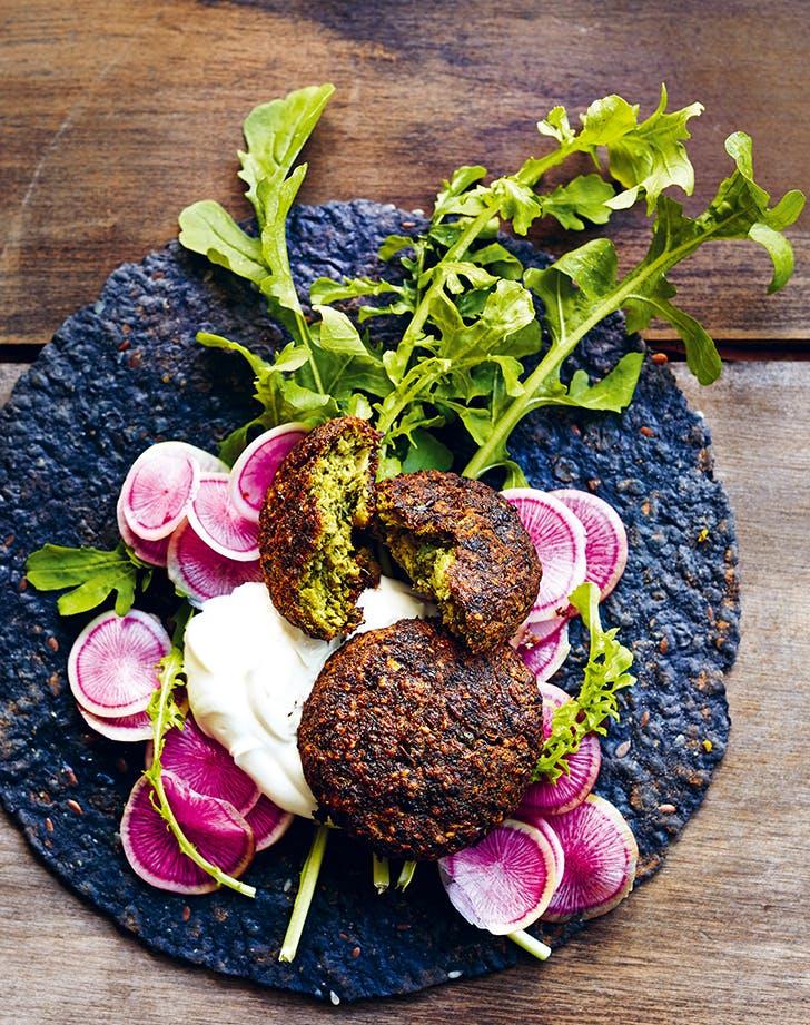 Oven-Baked Super-Green Falafel