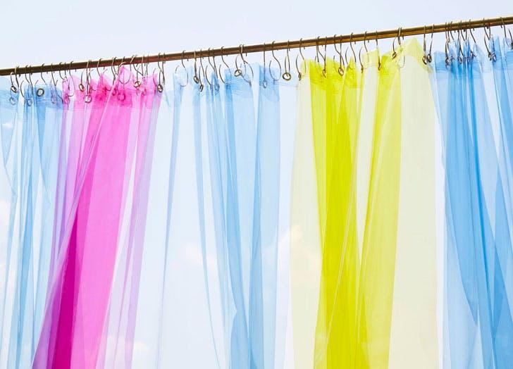 quiet town shower curtain