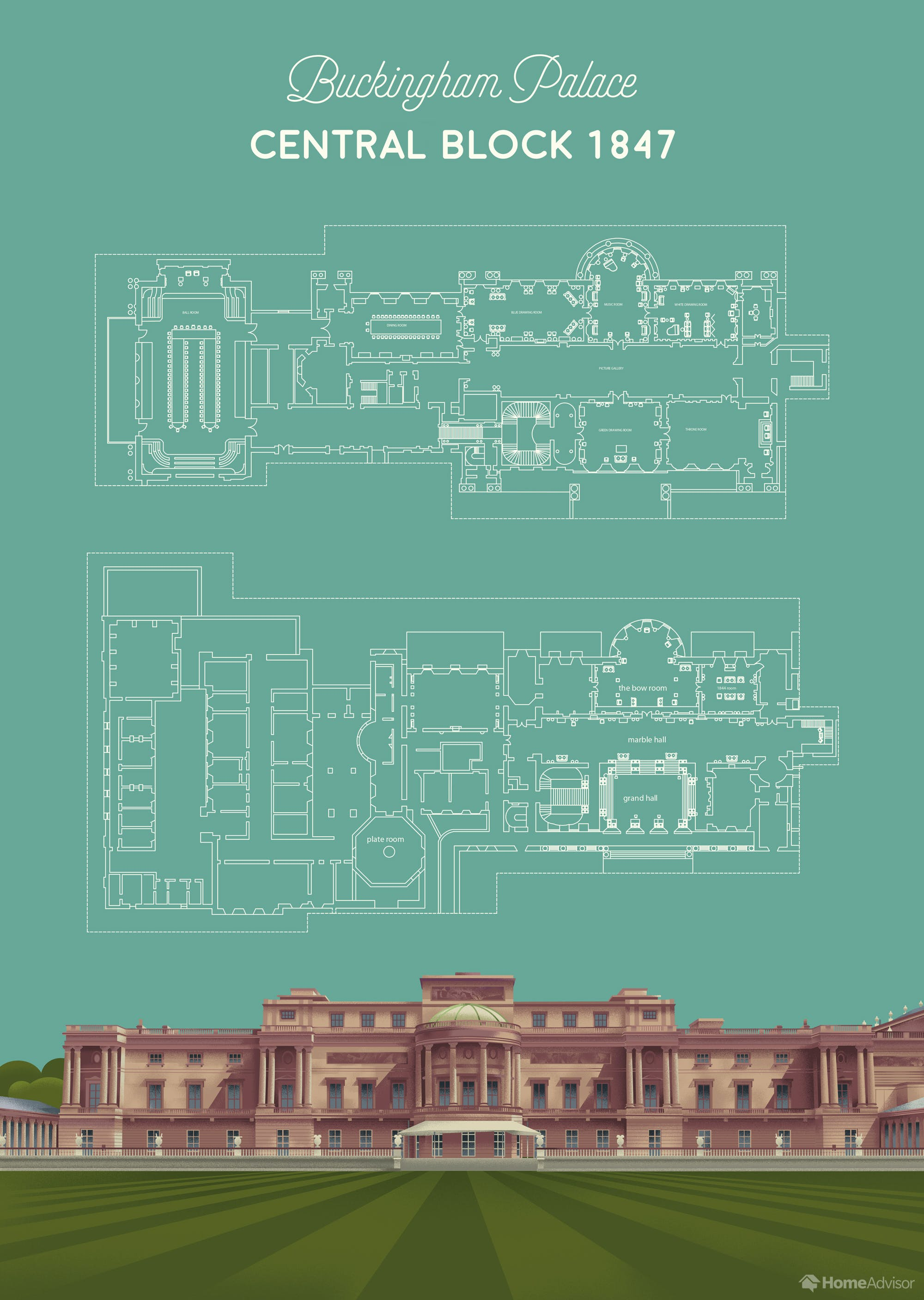 01 1 Buckingham Palace Central Block Floor Plan