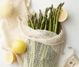 anthropologie cotton produce bags