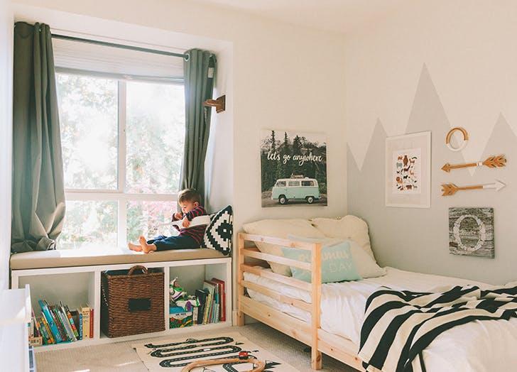 clean kids bedroom