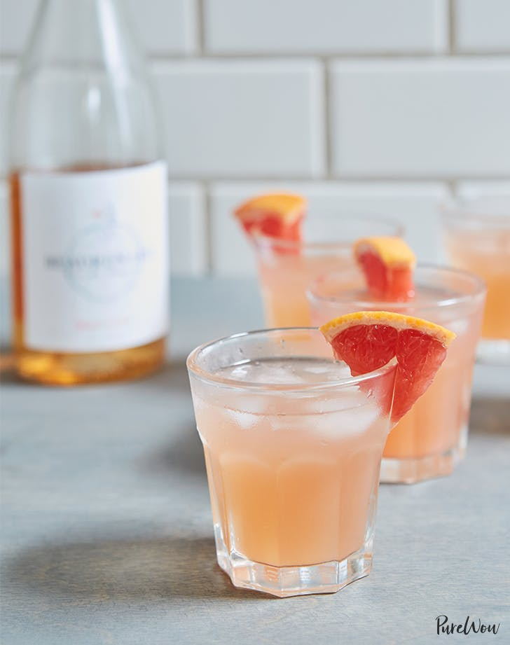easy cocktail recipes Grapefruit Wine Cocktail Recipe