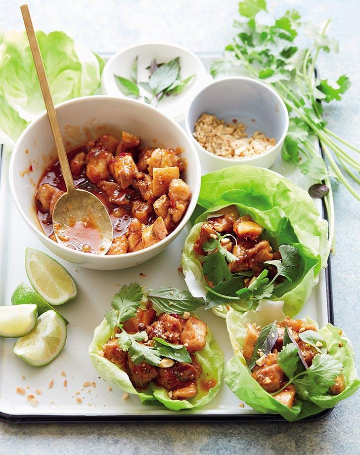Grilled Thai Chicken Lettuce Wraps