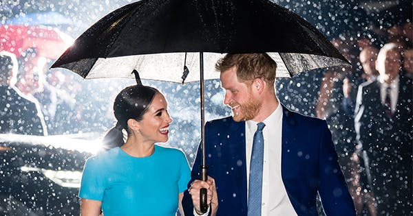 Turns Out, Prince Harry and Meghan Markle Love that Iconic Rain Photo Almost as Much as We Do