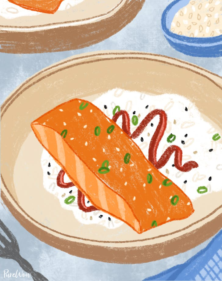 Miso-Glazed Salmon with Gochujang Rice