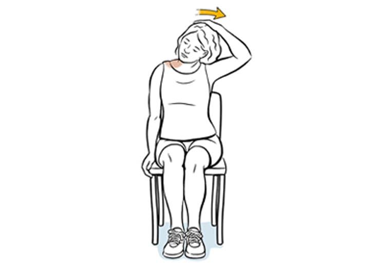 prevent back pain wfh UPPER TRAPEZIUS STRETCH
