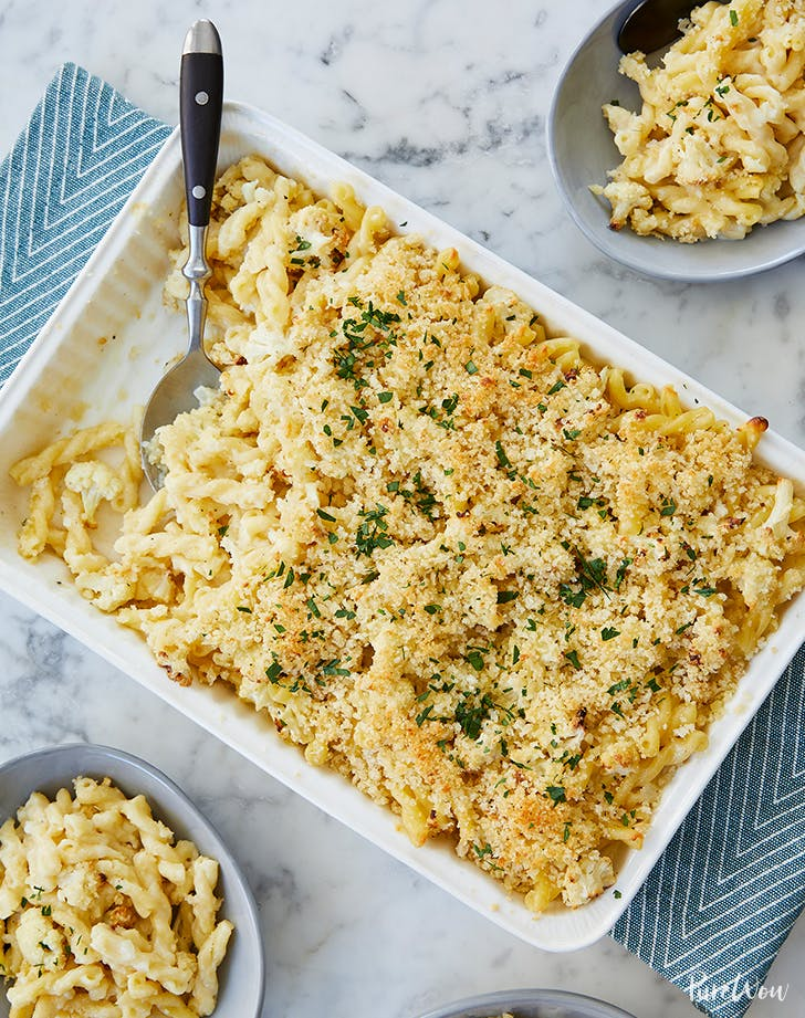 Roasted Cauliflower Macaroni and Cheese