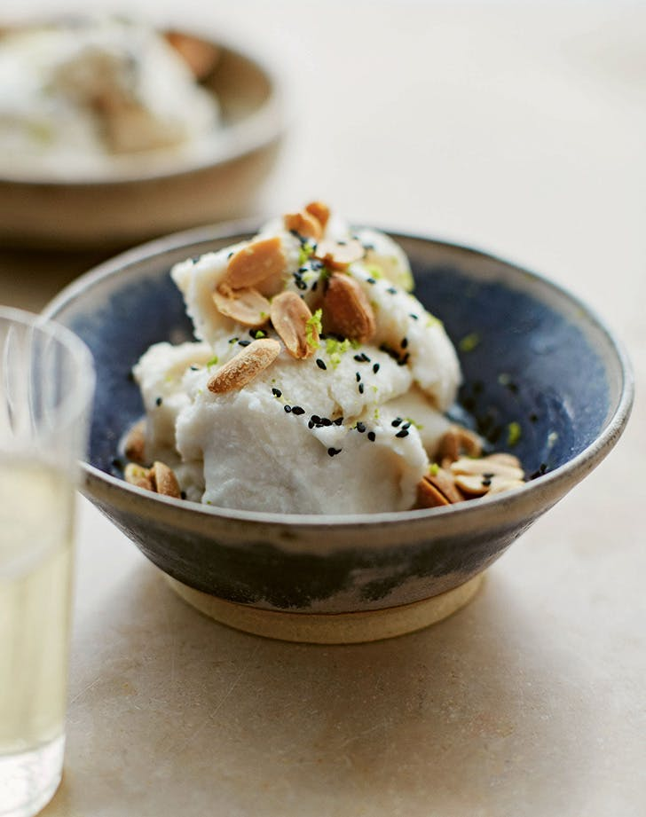 Salted Coconut Sorbet with Peanuts