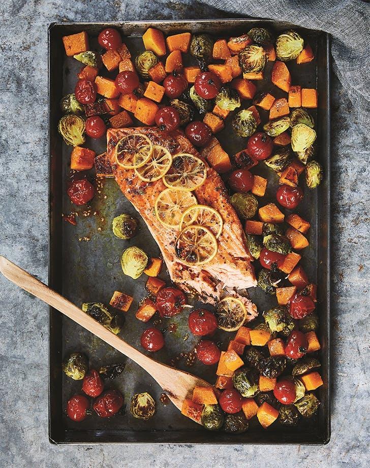 sheet pan salmon recipes honey mustard sheet pan salmon recipe