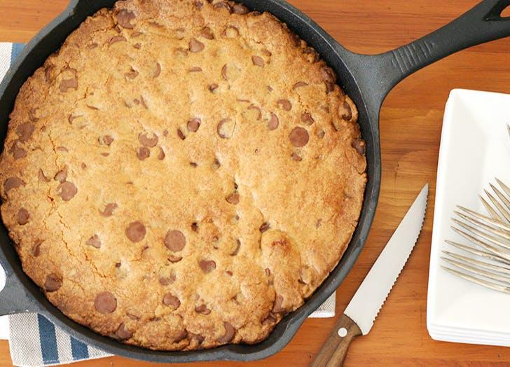 skillet chocolate chip cookie recipe CAT
