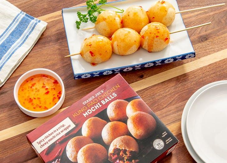 whats new at trader joes kung pao chicken mochi balls