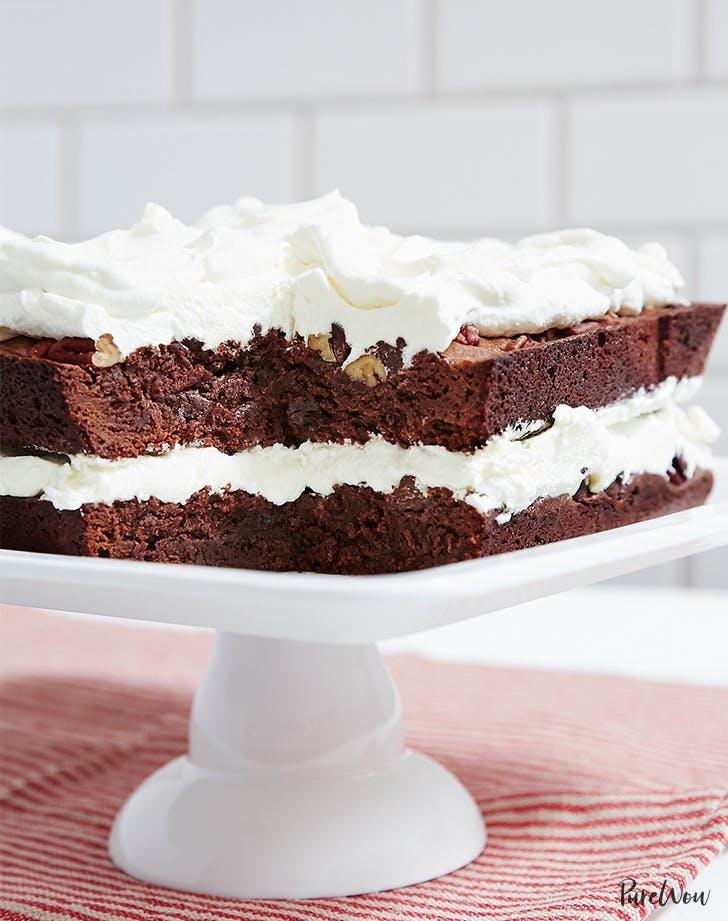 birthday cake recipes Brownie Layer Cake Recipe