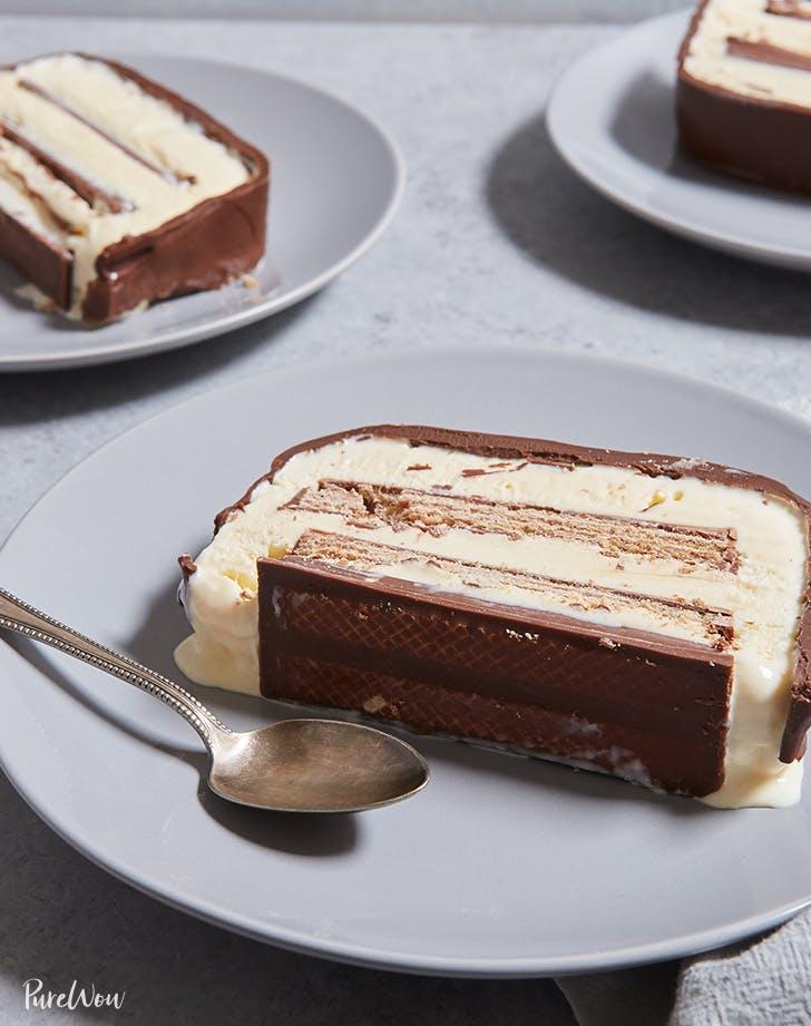 birthday cake recipes Kit Kat Ice Cream Cake Recipe