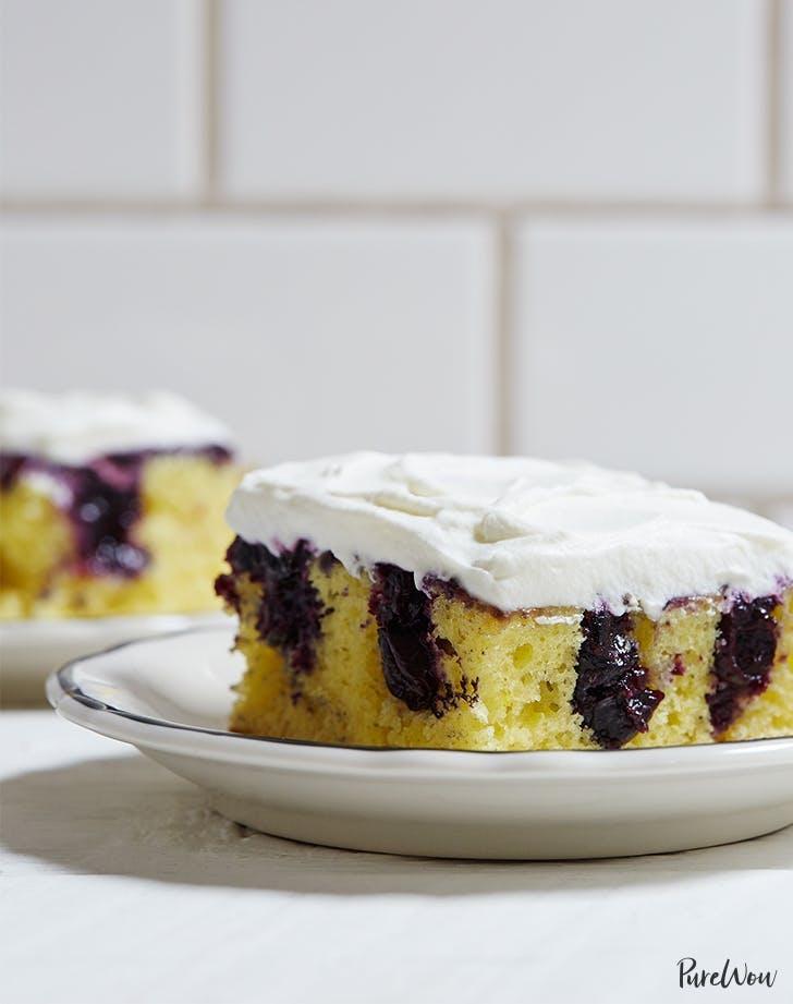 birthday cake recipes Lemon Blueberry Poke Cake Recipe