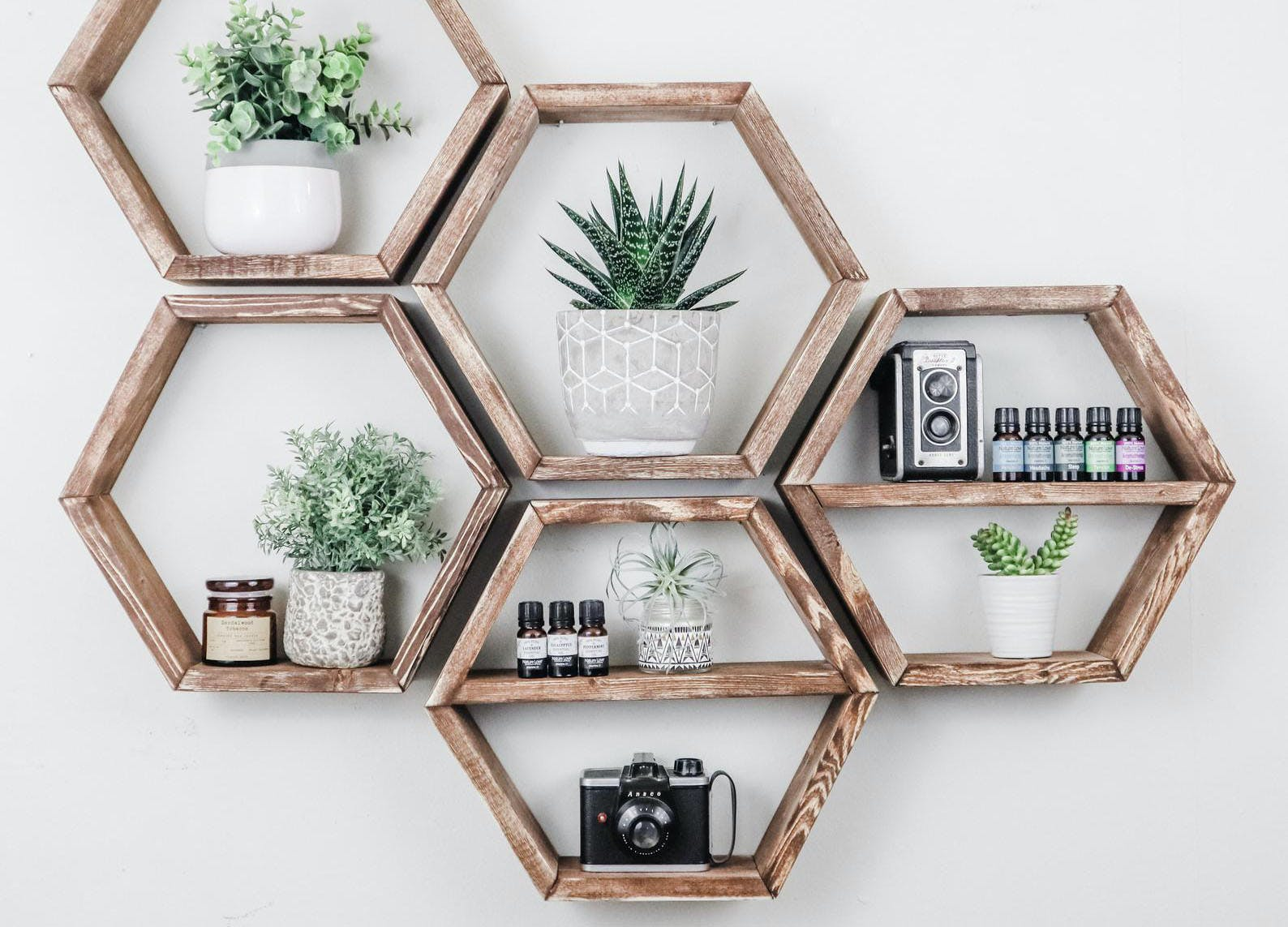 floating shelves ideas hexagon shelf