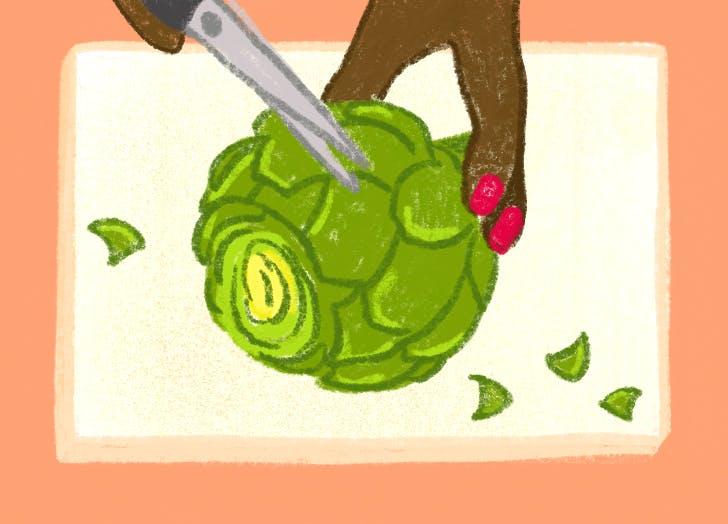 how to prep an artichoke