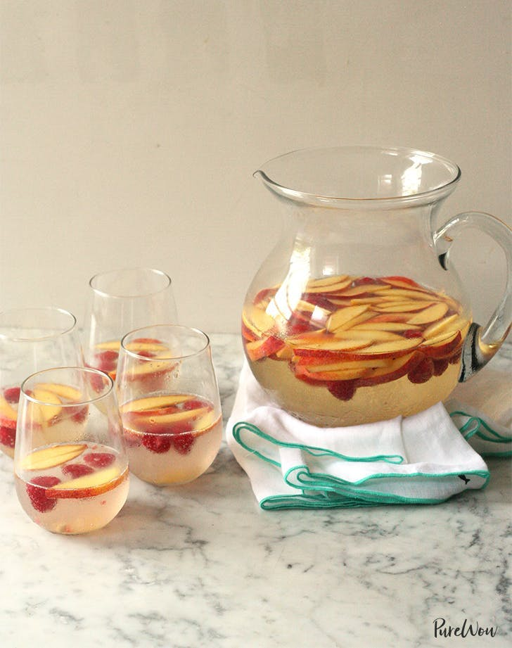 labor day recipes White Sangria With Peaches And Berries Recipe