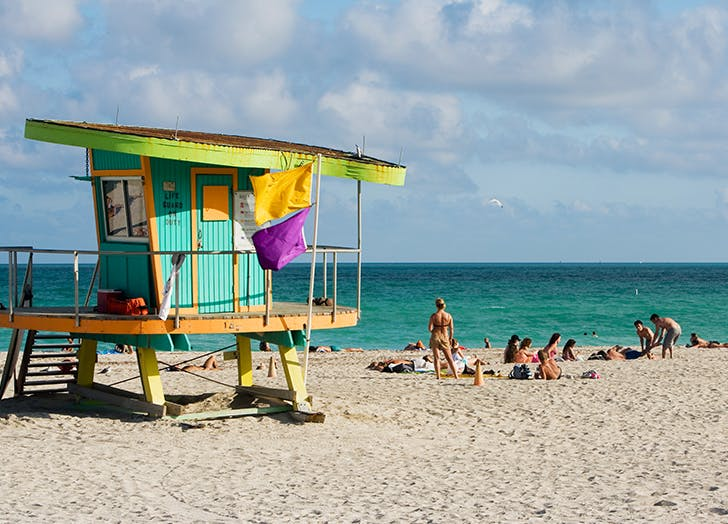 lifeguard stand on a miami beach