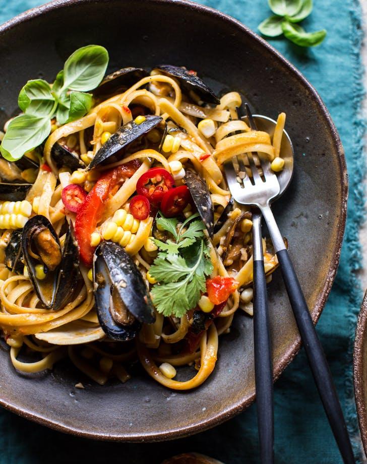 low calorie pasta recipes mussels