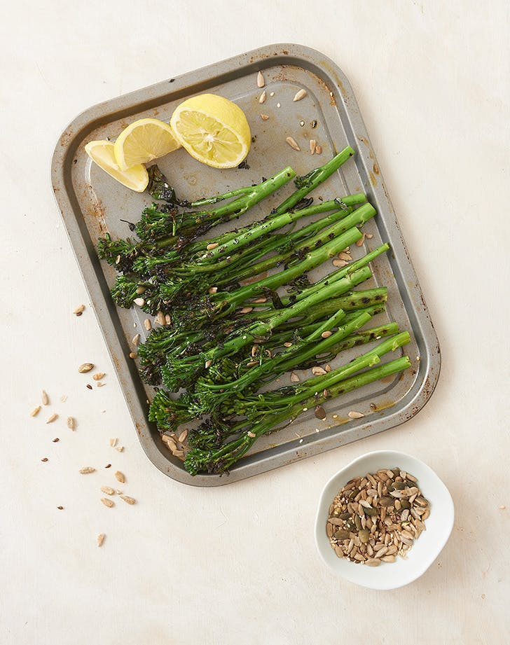 mediterranean side dishes zesty chargrilled broccolini recipe