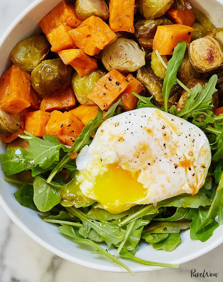plant based diet meal plan egg and veggie breakfast bowl recipe