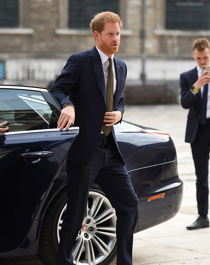 prince harry car door