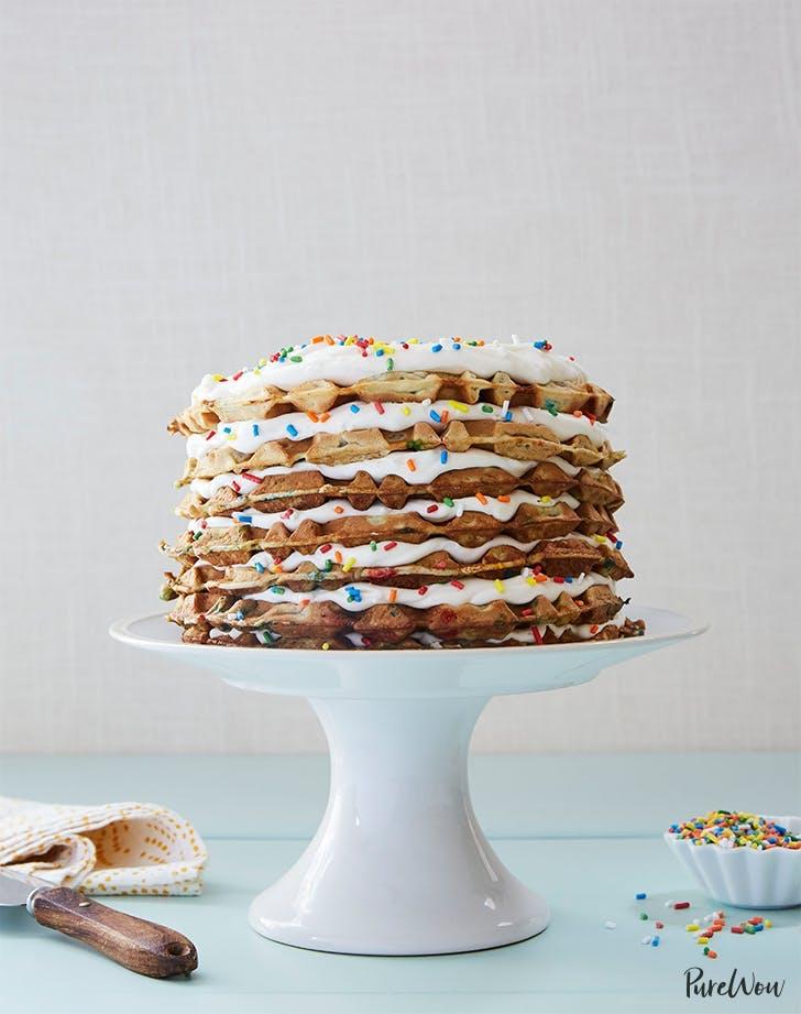 rainbow foods Rainbow Waffle Cake Recipe