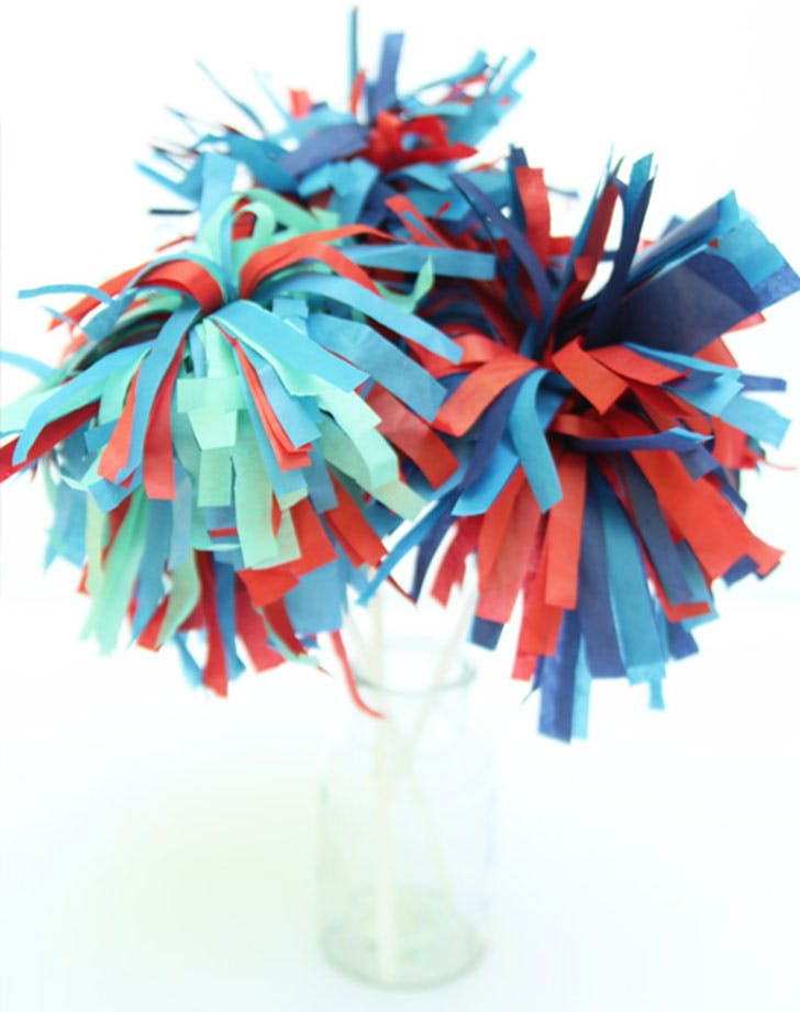 tissue paper sparklers fourth of july crafts