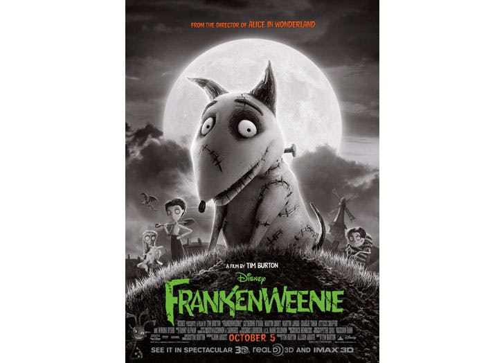 halloween movies for kids frankenweenie