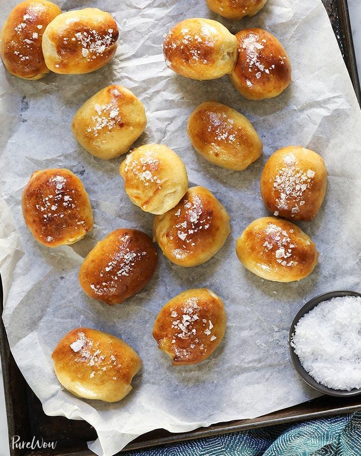 fall appetizers Brie Stuffed Pretzel Bites Recipe