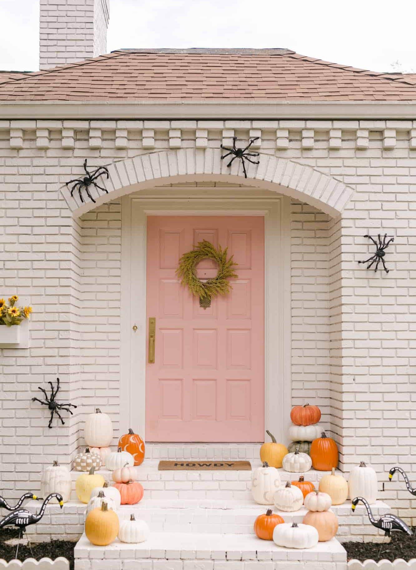 halloween door decor a beautiful mess