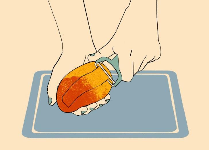 how to slice a mango slices 1