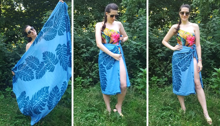 how to tie a sarong as a side tie skirt