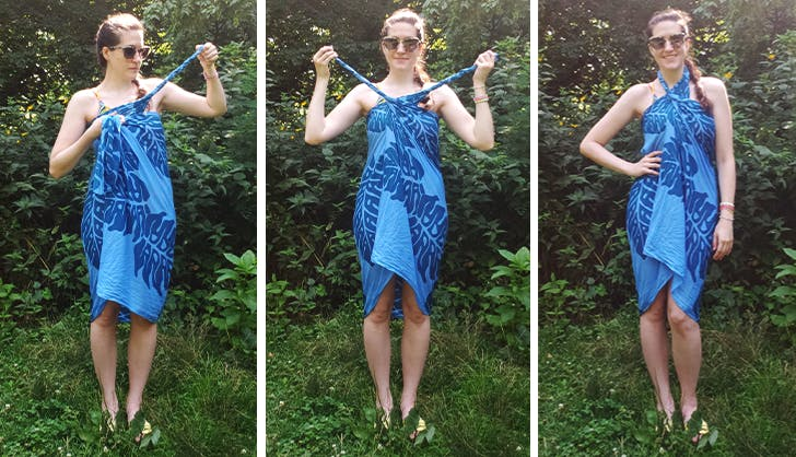 How To Tie A Sarong 9 Different Ways Purewow