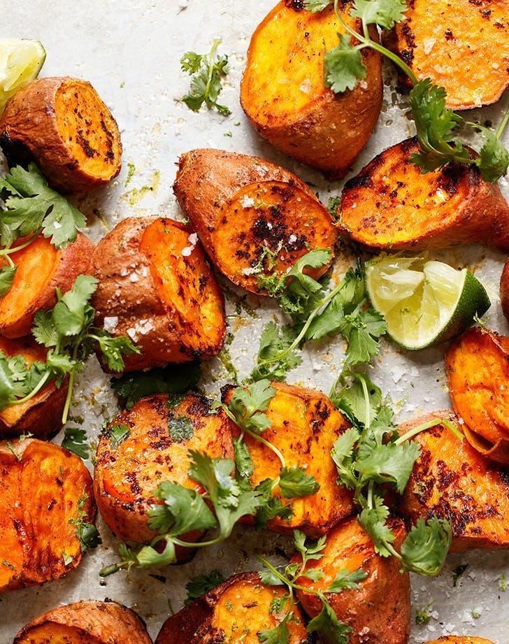 meatload sides roasted sweet potatoes