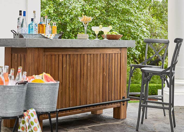 outdoor bar ideas concrete